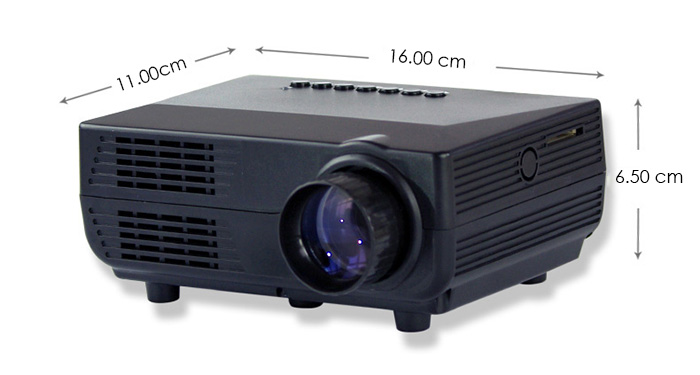 VS311 LCD Projector 150 Lumens 480 x 320 Pixels 1080P Home Theater
