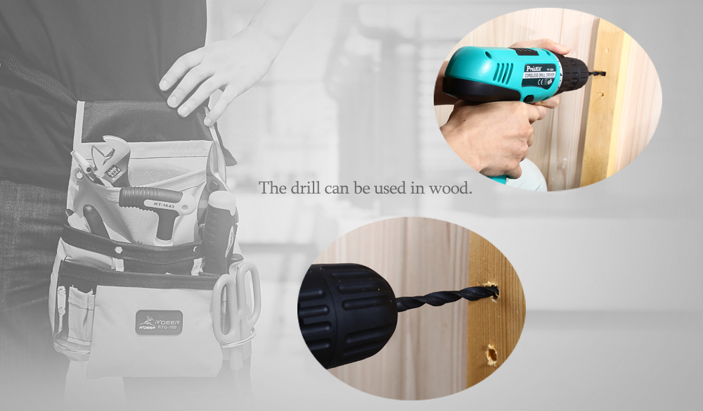 Proskit PT - 1201F 12V Cordless Electric Drill Household Repair Tool