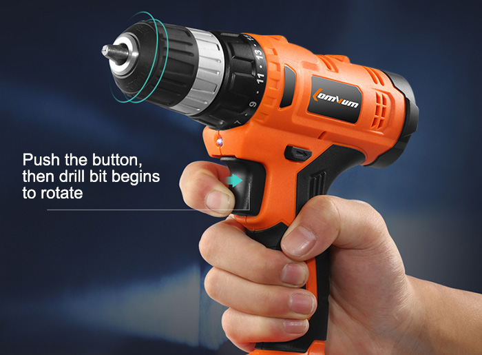 Lomvum  16.8V Rechargeable Electric Drill Single Speed Cordless Electric Screwdriver