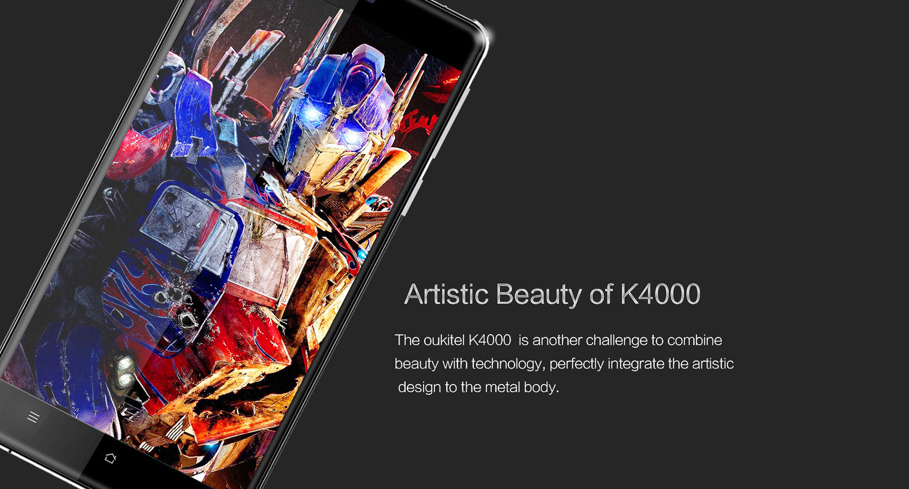 OUKITEL K4000 Android 5.1 4G Smartphone 5.0 inch 2.5D Arc Screen MTK6735 64bit Quad Core 2GB RAM 16GB ROM 5MP + 13MP Cameras