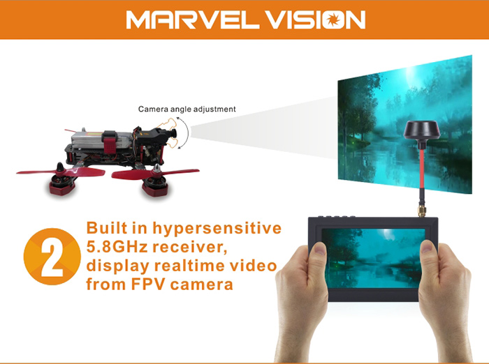 FX Marvel Vision 4.3 inch 5.8GHz 32CH 480 x 272 FPV Goggles Automatic Search
