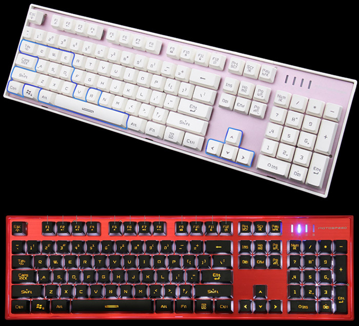 Motospeed K10 Professional USB Wired Keyboard with LED Backlit