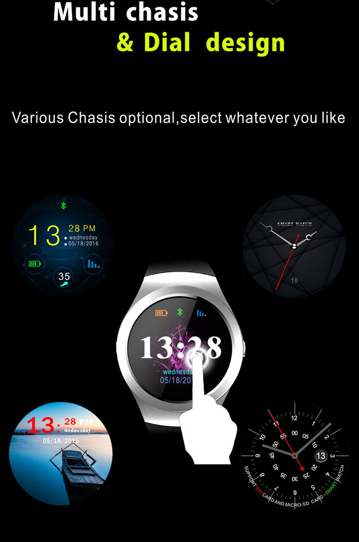 CACGO KS2 1.3 inch Smartwatch Phone MTK2502 Pedometer Sedentary Remind Sleep Monitor Anti-lost