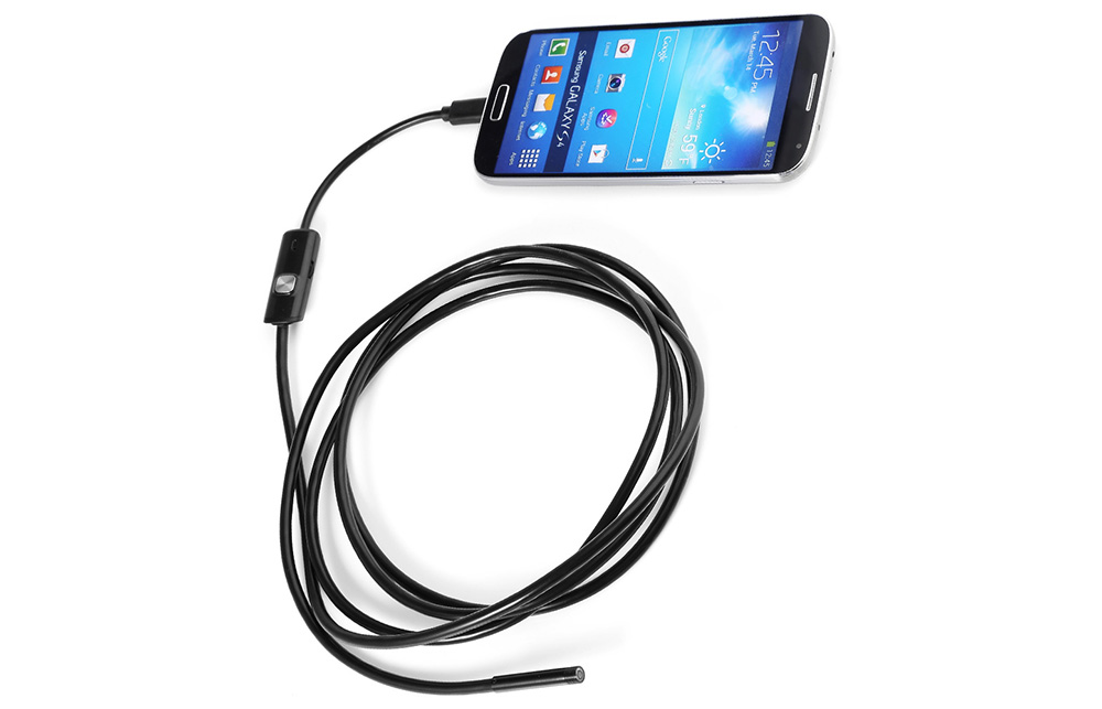Universal 5.5mm IP67 Waterproof USB Endoscope Borescope Inspection Camera with 6 LED Lights for Android Phone Tablet PC
