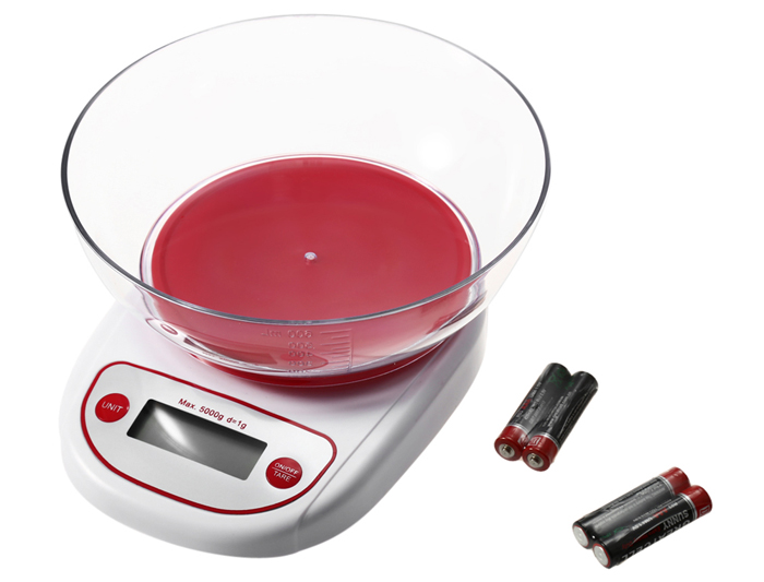Precise Electronic Digital Kitchen Scale with Bowl Food Weighing Tool 0.1g - 5kg