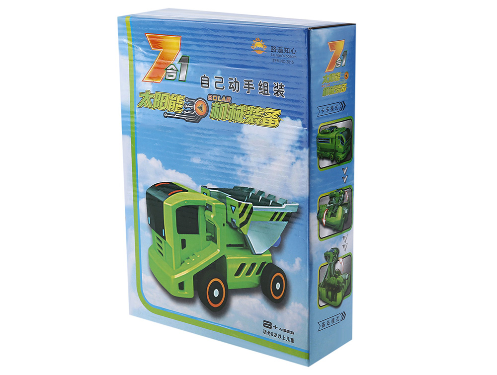 7 in 1 Changeable Solar Energy Equipment Car DIY Educational Toy for Children