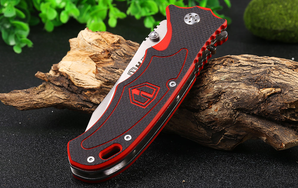 HARNDS CK7006A Liner Lock Folding Knife with Clip / G10 Handle