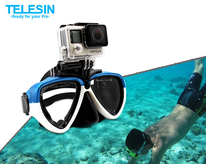 TELESIN Universal Tempered Glass Diving Glasses High Transmittance for Action Camera