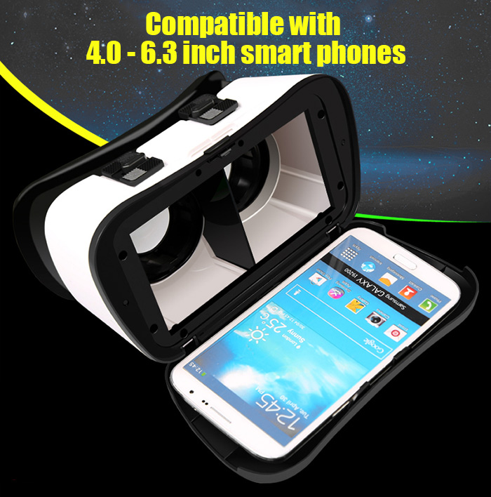RK5Plus VR Case 3D Immersive Glasses Virtual Reality Headset Private Theater Game Video for 4.0 - 6.3 inch Smartphone