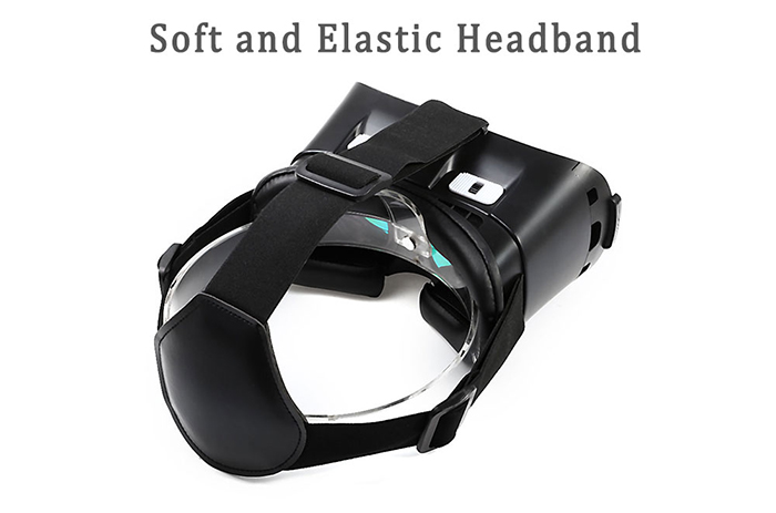 VR PLUS 3D Immersive Glasses Virtual Reality Headset Private Theater Game Video Heat Dissipation with Wireless Remote Controller for 4 - 6 inch Smartphone