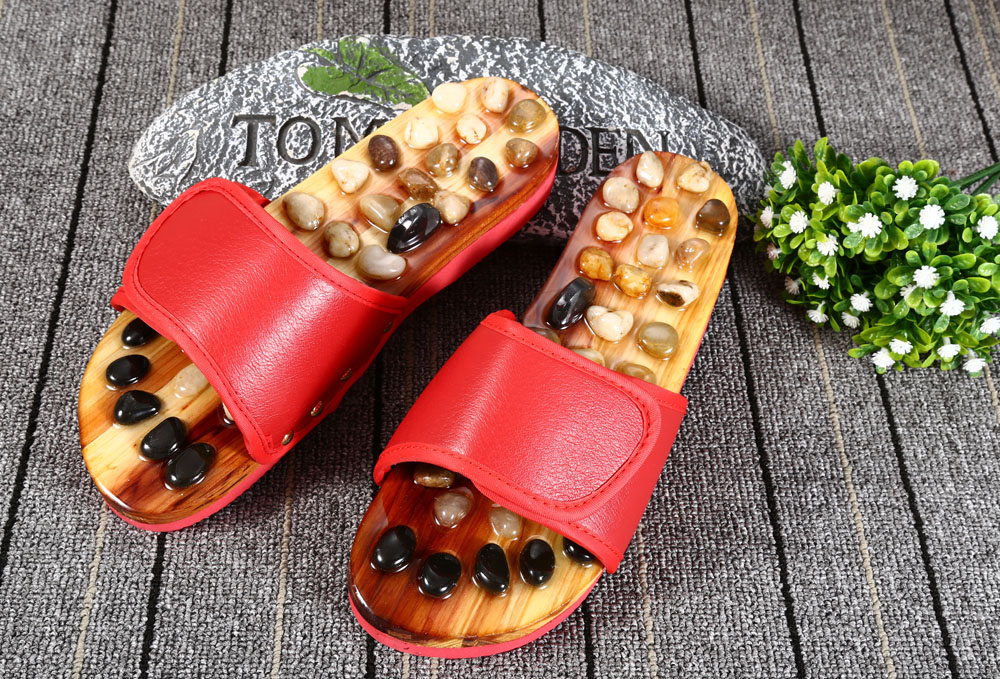 Jade Massage Slippers Non-slip Foot Acupoint Blood Circulation Promotion Massager Shoes