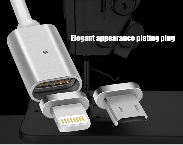 100cm Detachable Magnetic 8Pin with Micro USB Interface Charging and Data Transfer Cable for iPhone 6 / 6S / 6 Plus / 6S Plus
