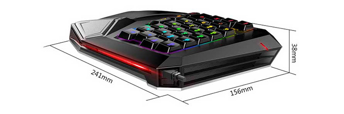 Delux T9 Plus Mechanical Single-handed Wired USB Game Keyboard with LED Indicator Computer Peripherals
