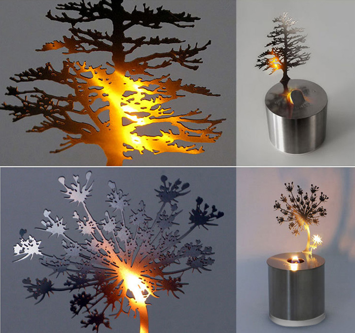 Creative Nest Shadow Projection LED Lamp Romantic Atmosphere Candle Decor Light