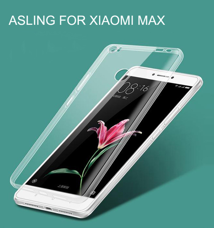 ASLING Ultra-slim TPU Case for Xiaomi Max Transparency