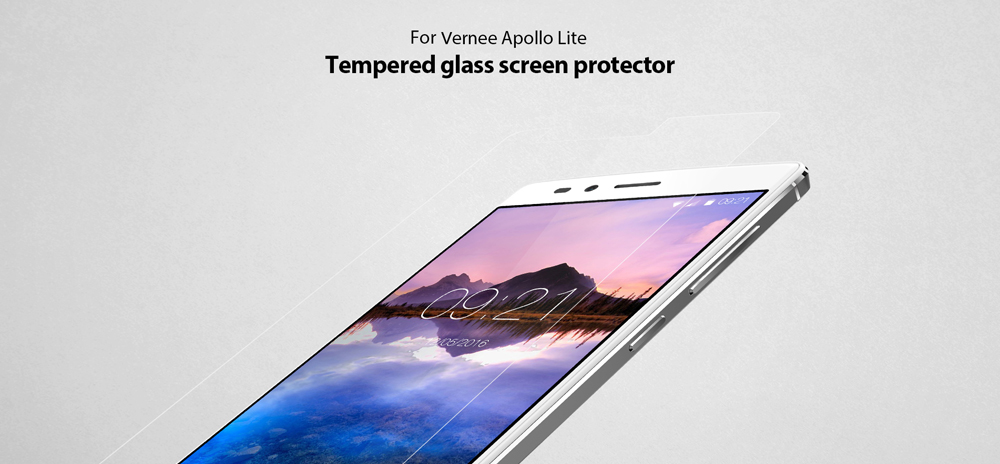Original Vernee Tempered Glass Screen Protective Film for Apollo Lite 0.3mm 9H Explosion-proof Anti Blu-ray Membrane