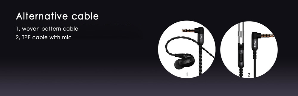 Nuforce HEM4 Professional Monitoring In-ear Earphones HiFi Armature Drivers Noise Cancelling Song Switch