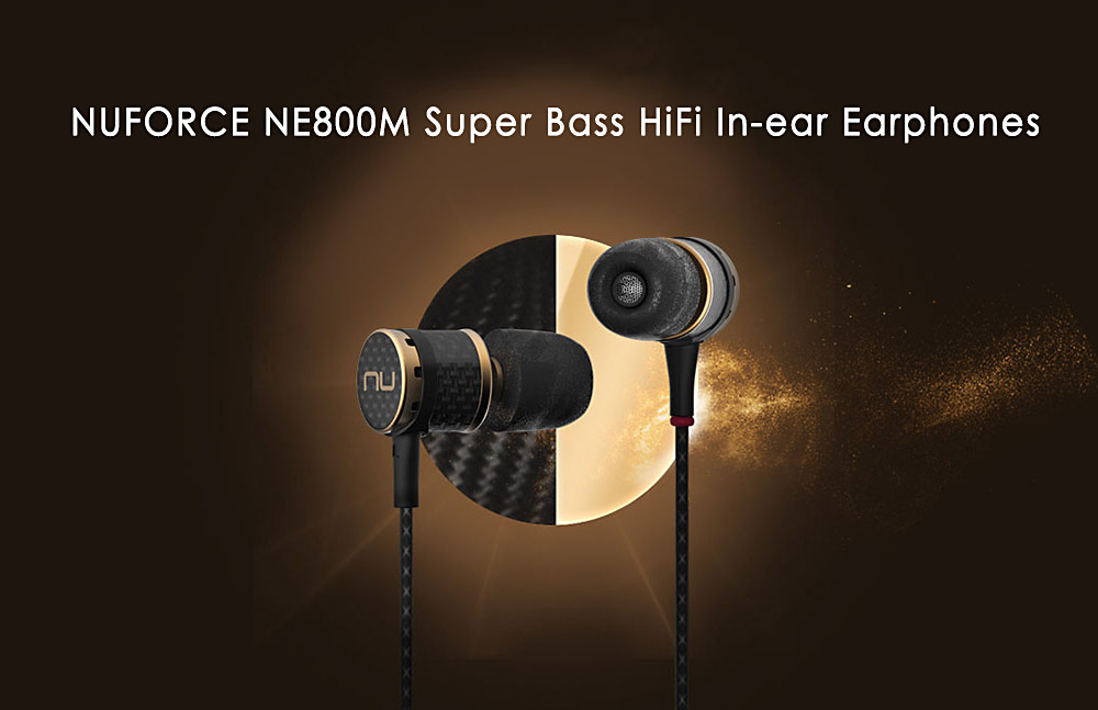 Nuforce NE800M Super Bass HiFi Music In-ear Earphones with Mic Song Switch