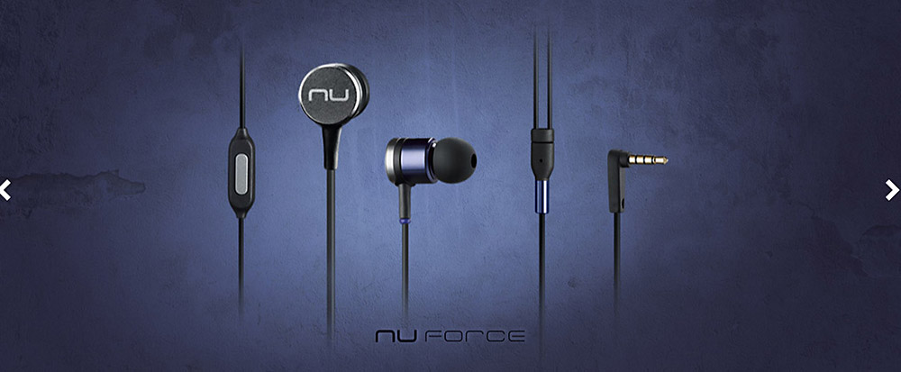 Nuforce NE730M Dynamic HiFi Music Super Bass In-ear Earphones Aluminum Alloy Housing with Mic Song Switch