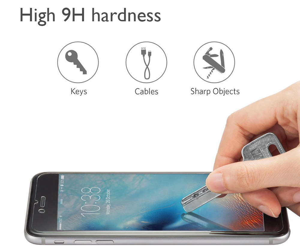 ENKAY Hat - Prince Tempered Glass Screen Protector for Letv Max 2 Ultra-thin 0.26mm 2.5D Arc 9H Explosion-proof Film