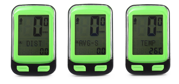 CTSmart 21 Functions 1.7 inch Screen Water Resistant Wireless Bicycle Computer with Backlight