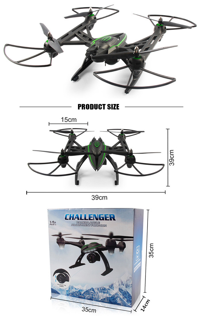 JXD 506W WiFi FPV HD Camera 2.4GHz 4CH 6 Axis Gyro RC Quadcopter Air Pressure Altitude Hold RTF