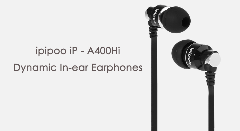 ipipoo iP - A400Hi Dynamic In-ear Earphones with Mic Song Switch Volume Control