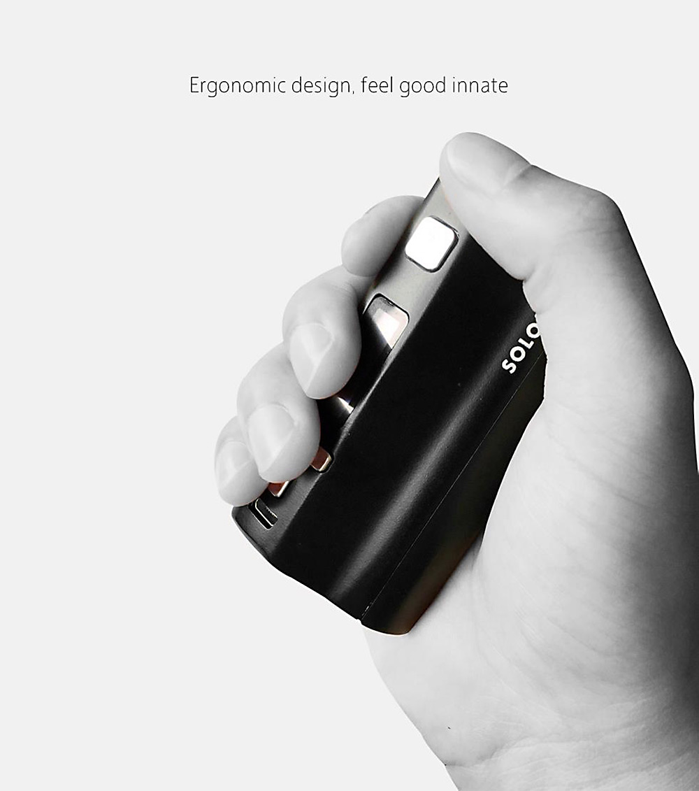 Original IJOY Solo Plus 26650 Battery 85W TC Box Mod with Taste Control / Supporting Ti / Ni / Ni-Cr / Ti-Cr / Kanthal A1 / Stainless Steel Wire