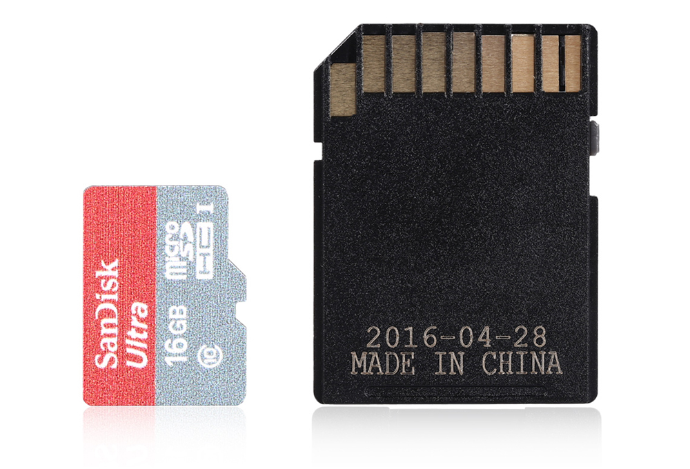 Original SanDisk 16GB 80MB/s Micro SD Card with Card Adapter Set