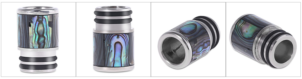 Hotcig 10mm Stainless Steel and Abalone Shell Drip Tip Replacement Mouthpiece E Cigarette Accessory