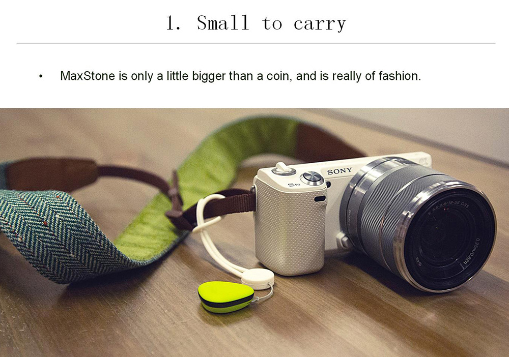 MaxStone Bluetooth 4.0 Mobile Photography Camera Remote Shutter Anti-lost Device