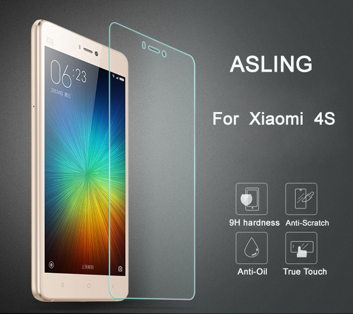 ASLING Protective Tempered Glass Screen Film for Xiaomi 4S 0.26mm Ultra-thin