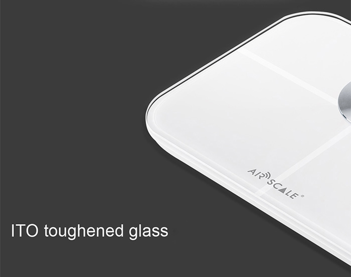 AirScale YHF1546 Mini Bluetooth 4.0 Body Health Scale ITO Toughened Glass Smart Digital Personal Weighing Tool