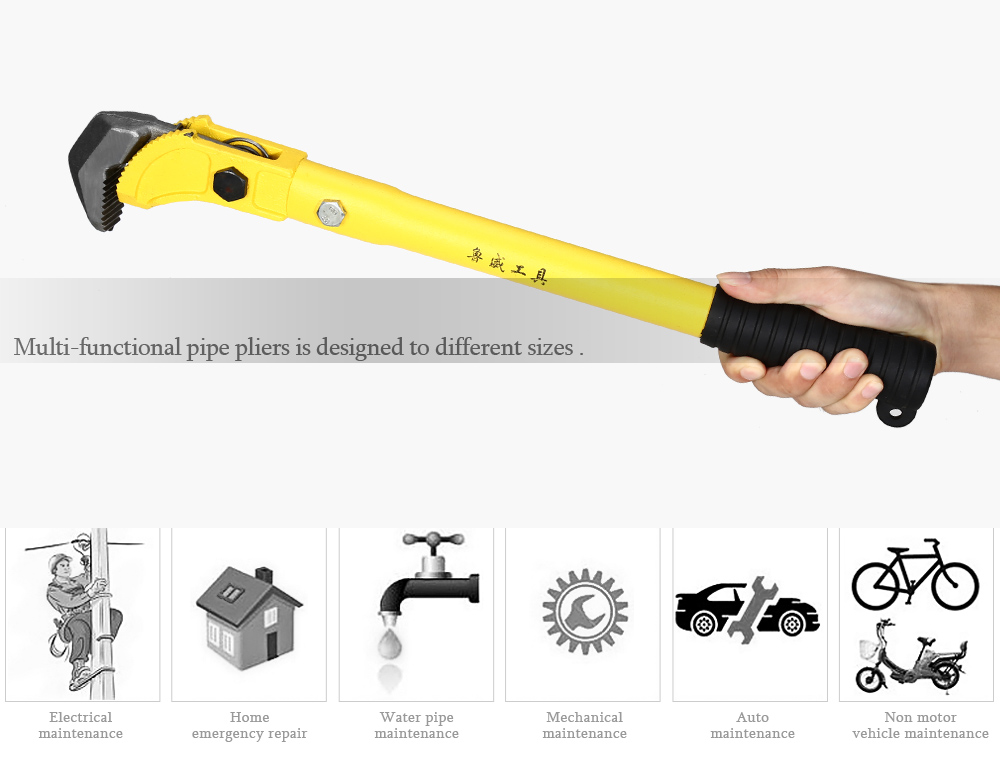 LUWEITOOLS Heavy Duty Water Pipe Wrench Pliers
