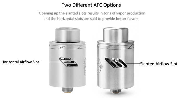 Original Wotofo The Troll RDA V2 with Two Different AFC Options / Dual Posts Velocity Style Deck / 2.7mm Wire Holes E Cigarette Rebuildable Dripping Atomizer