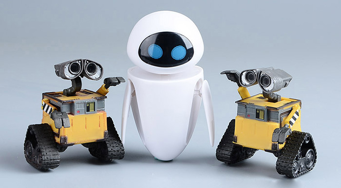 9cm / 3.5 inch Action Figure Cute Robot Doll 360 Degree Rotation Head PVC Toy for Kid