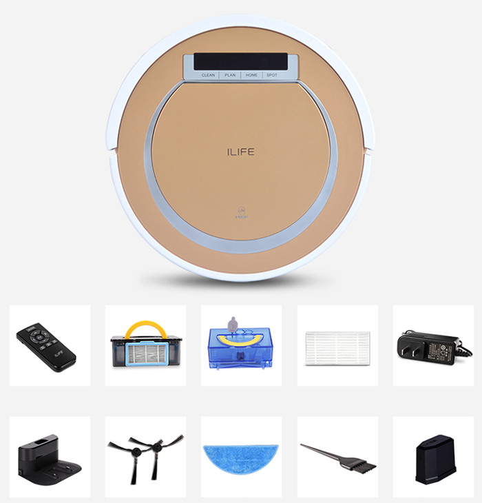 ILIFE X5 Smart Robotic Vacuum Cleaner 2 in 1 Cordless Dry Wet Sweeping Cleaning Machine