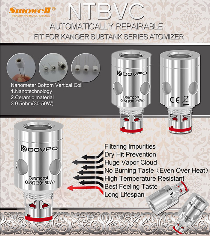 Original Smowell 0.5 ohm Replacement NTBVC Coil Head ( 5pcs )