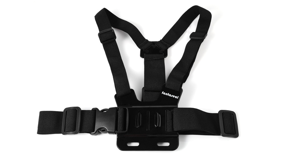 Fantaseal 4 in 1 Chest Strap Mounting Base Harness Holder Kit with J-shaped Mount Screw Kit for Action Camera