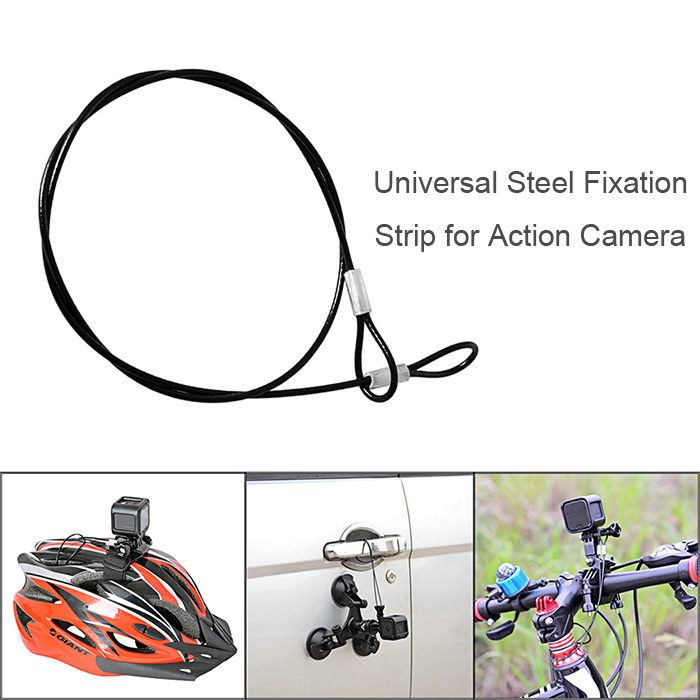2Pcs Fantaseal Universal Steel Wire Rope Safety Strip for Sport Action Camera