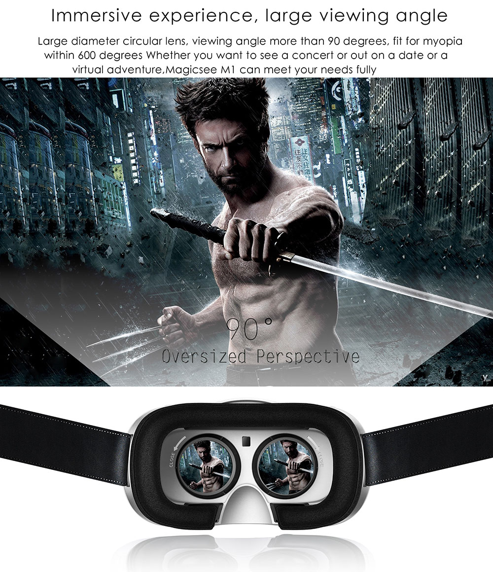 MAGICSEE M1 All in One VR 3D Headset Virtual Reality Glasses 90 Degrees FOV with Remote Controller