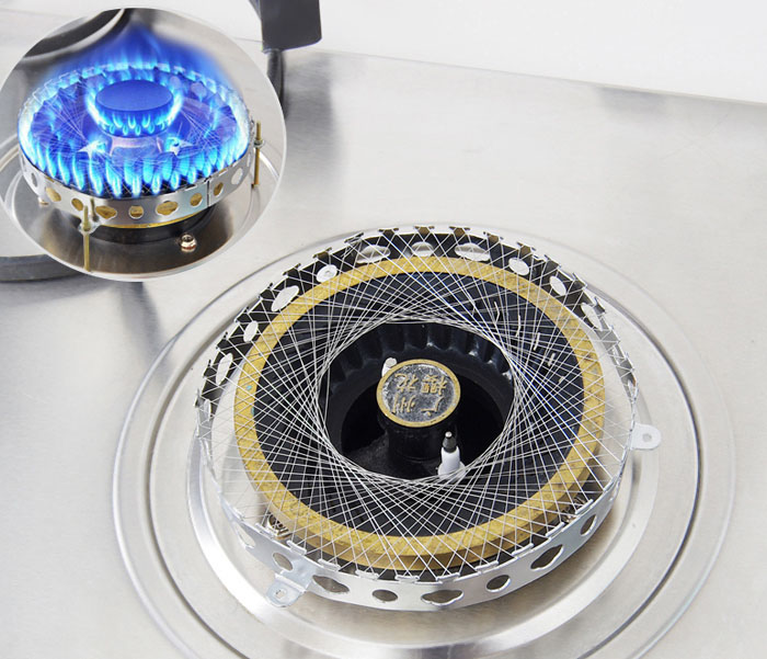 Round Shape Stainless Steel Gas Energy Saver Net Stove Wind Resistant Circle