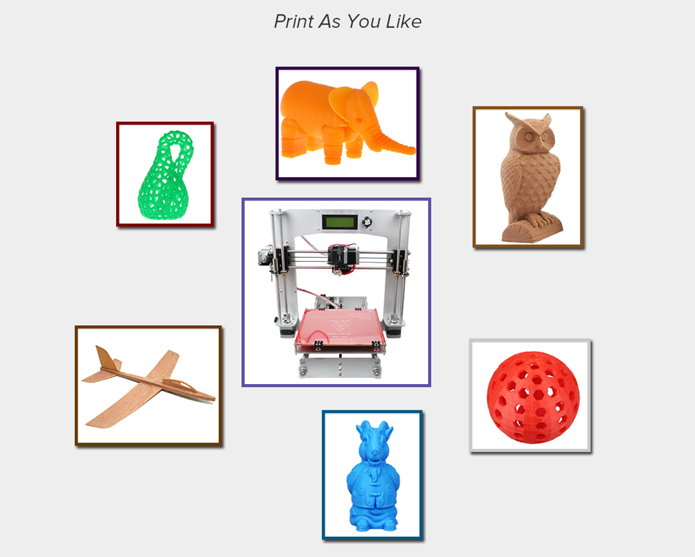 Geeetech I3 3D Desktop Printer Set LCD Screen Display with SD Card Off-line Printing Function