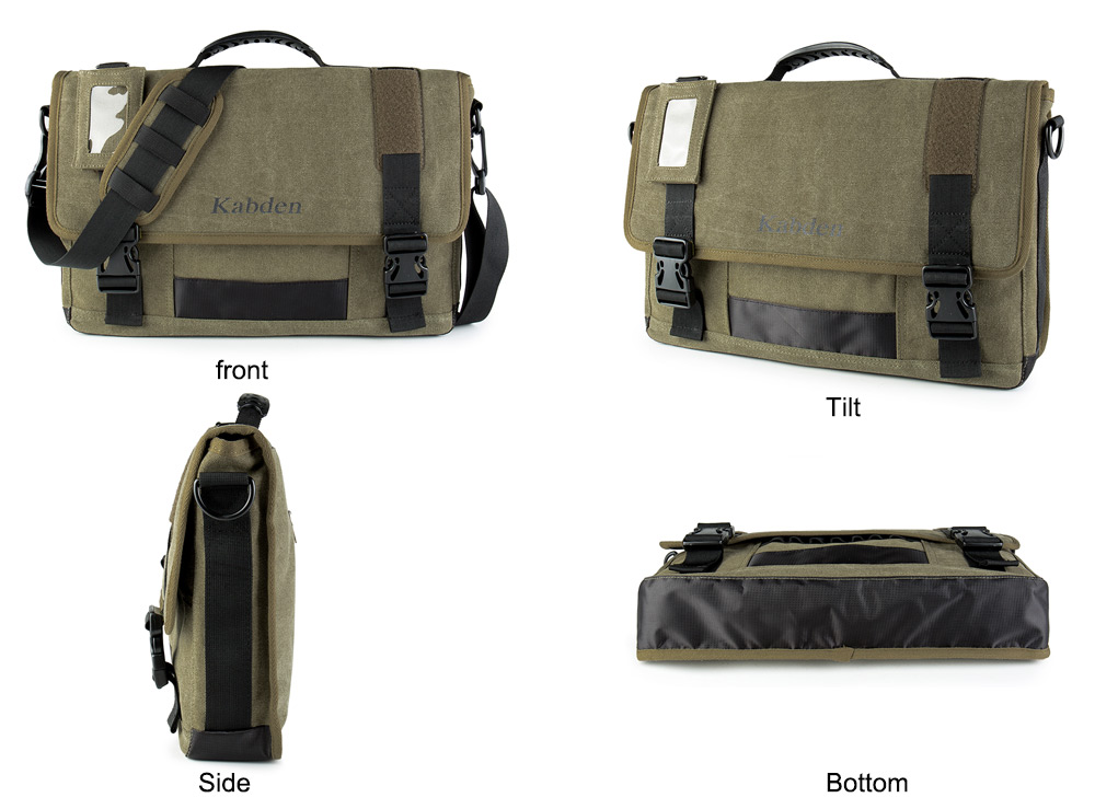 Kabden 8601 Unisex Canvas Sling Bag for Outdoor Travel
