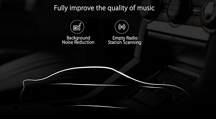 Original Xiaomi Roidmi 2S Bluetooth V4.2 Car Charger Hands-free Call FM Transmitter 5V 2.4A Output APP Real-time Monitor for iOS / Android
