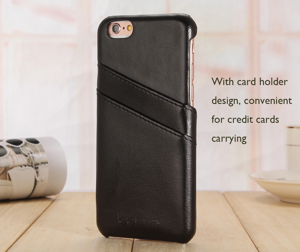 LeeHUR PU Leather Phone Cover Case with Card Slot for iPhone 6 Plus / 6S Plus
