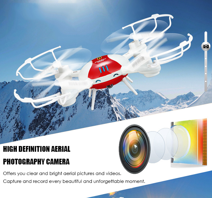 Huanqi 897C 2.4GHz 4CH 6 Axis Gyro RTF RC Quadcopter WiFi FPV HD Camera Transmitter / APP Control