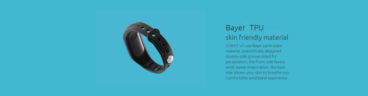 CUBOT V1 Customizable APP Intelligent Alarm Smart Band with Precise Motion Sensing