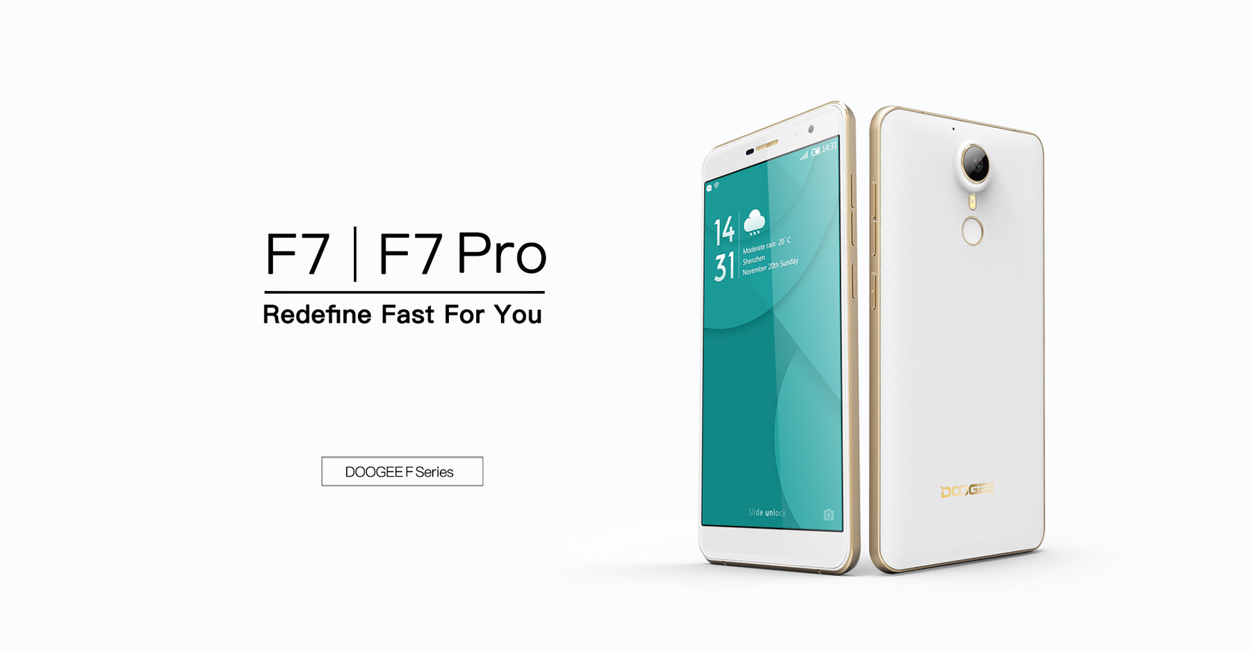 DOOGEE F7 Pro Android 6.0 4G Phablet 5.7 inch Arc Screen MTK6797 Deca Core 4GB RAM 32GB ROM 21MP Main Camera Type-C Fingerprint Sensor HotKnot
