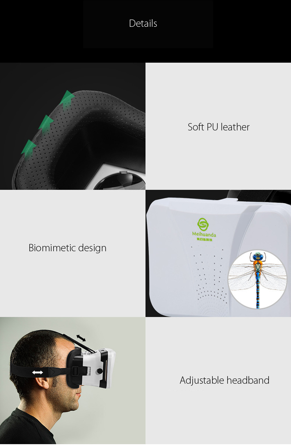 2D 3D VR Virtual Reality Glasses for Smartphone with Bluetooth Remote Controller